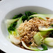 2 minute noodles with boy choy & oyster sauce