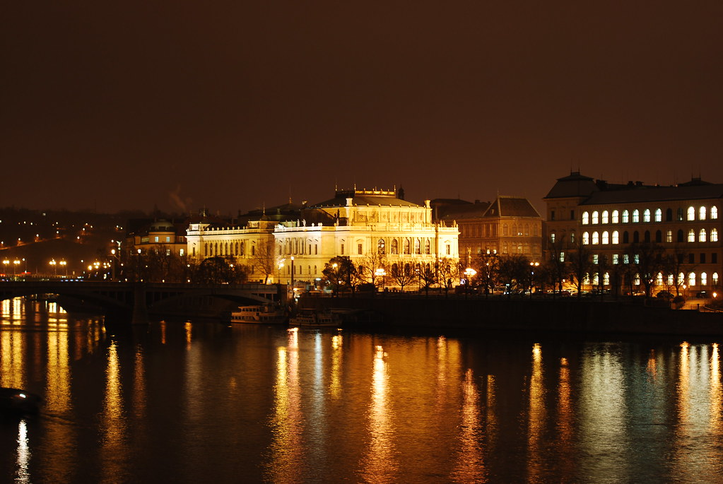 Rudolfinum - Prague by night