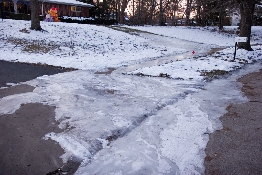 Icy Sidewalk Icy Driveway The Ice Doesn T Just Coat Our