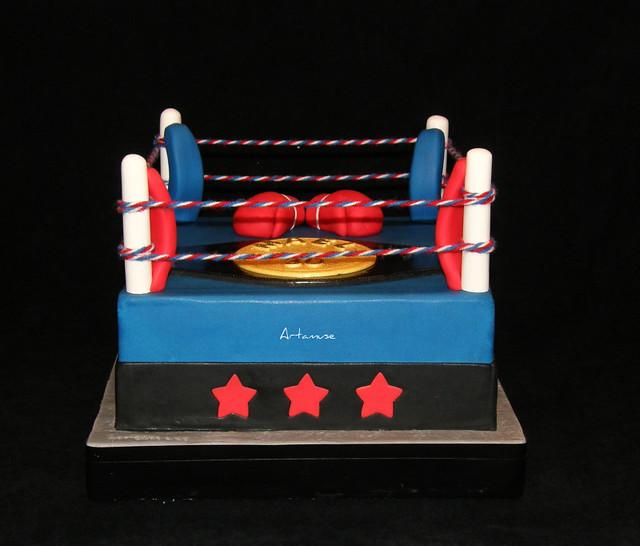 Make A Boxing Ring Cake