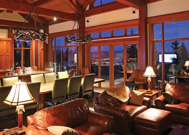 Red Deer Ranch Timber Frame Home Great Room Windows Flickr