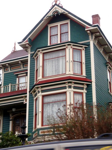 Teal red victorian house in astoria eli anne marie flickr - Victorian house paint colors exterior gallery ...