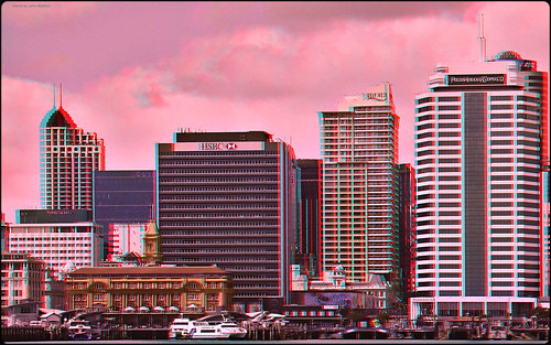 Ferry Basin, Auckland [anaglyph] | by kiwizone