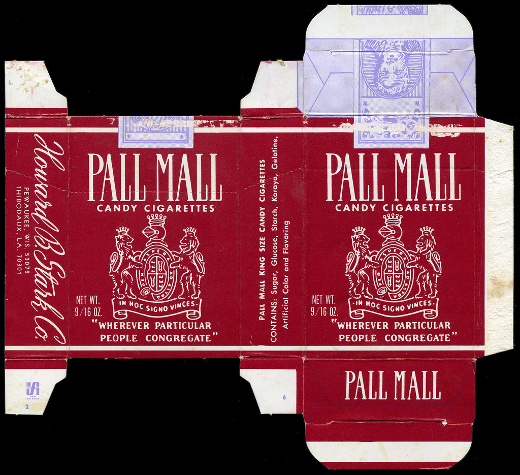 Stark Pall Mall Candy Cigarettes Box 1970 S Howard