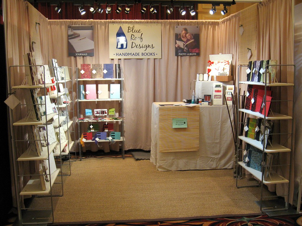 Craft Show Booth Angle 2 Taken At The Vermont Hand