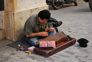 Omid Tahmasebpur Busking (Iranian Santur Player) | by goingslowly