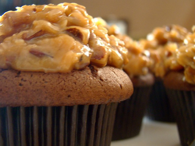 German Chocolate Cupcakes From Cake Mix