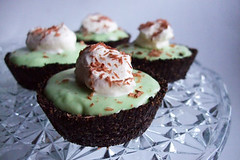 Mini Grasshopper Pies | by raspberri cupcakes