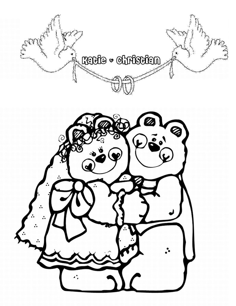 Bear couple coloring page by ktsaltishok