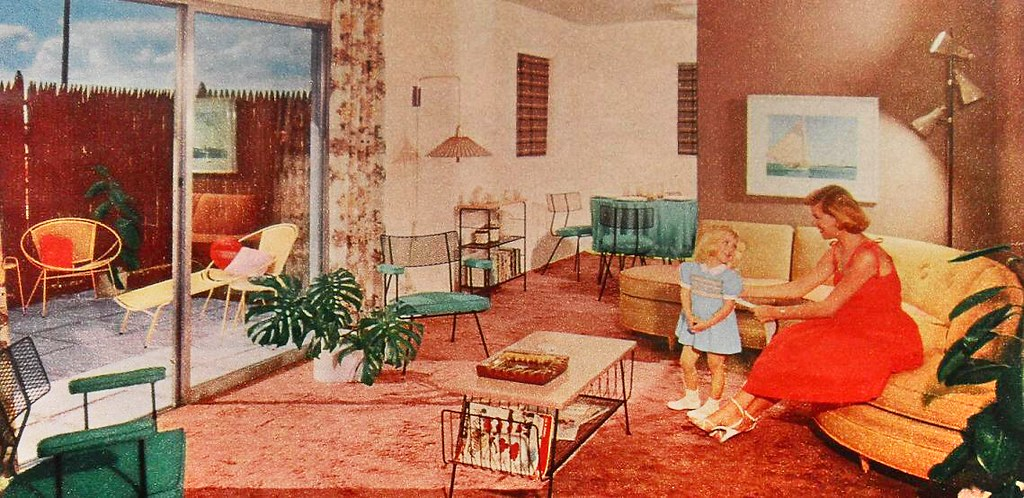1950s Vintage Interior Design Photo Www Ajaxallpurpose