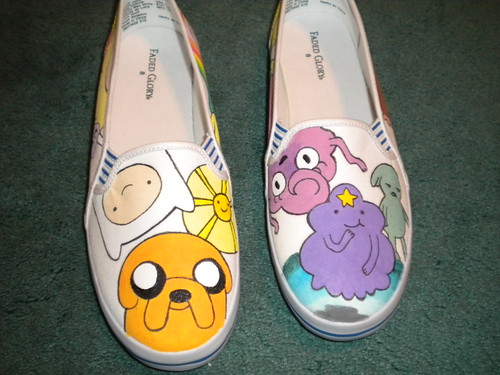Adventure Time Shoes #2 | by Lumpy Space Princess