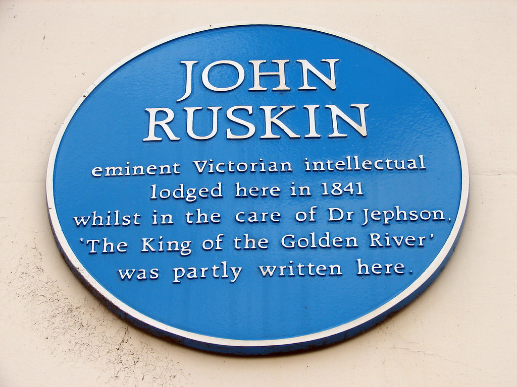 john ruskin essay [disponible en español] a quotation from ruskin there is hardly anything in the world that someone cannot make a little worse and sell a little cheaper, and the people who consider price alone are that person's lawful prey.