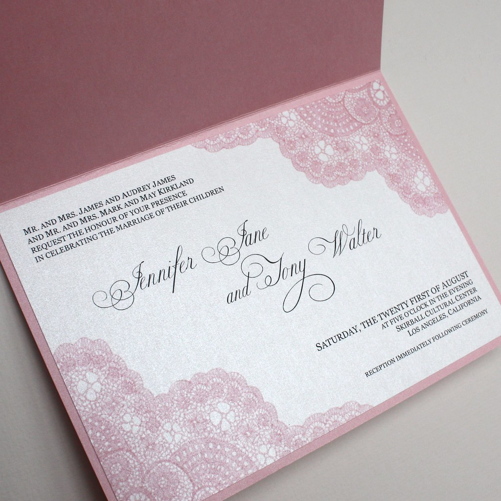 vintage lace wedding invitations pink vintage antique lace wedding invitation pink 8288