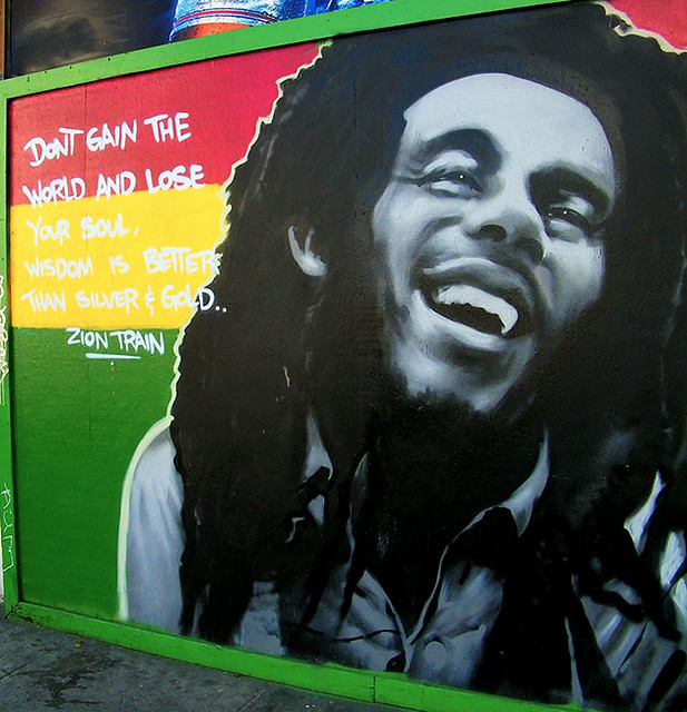Bob marley haight street s f bob marley mural on for Bob marley mural