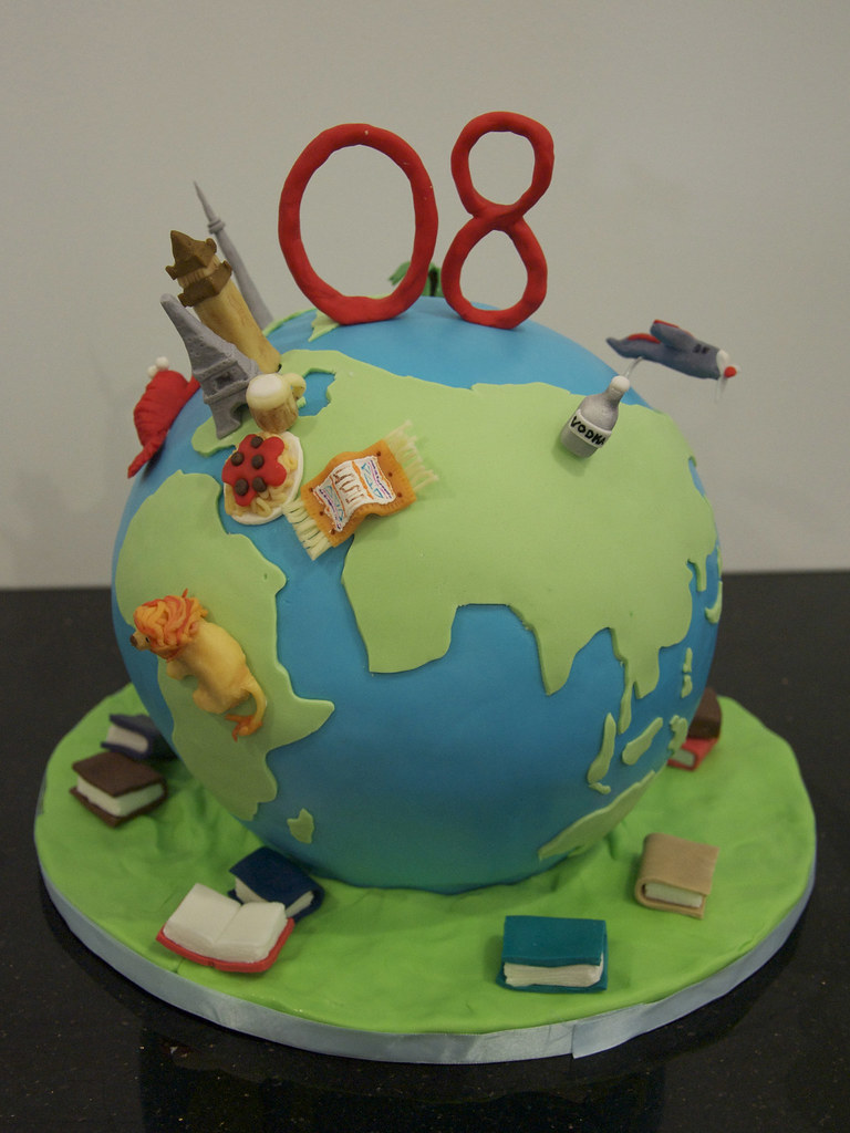 Globe Travel Birthday Cake A Globe Cake With Significant