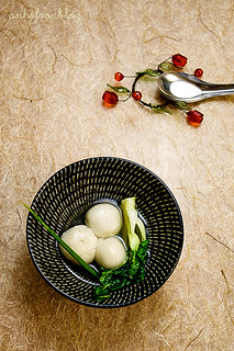 Savory mochi dumplings in light broth (sup banh troi man) | by anhsphoto_busy!!