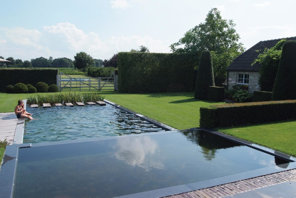 The pond an element of modern garden design a water for Contemporary garden ponds