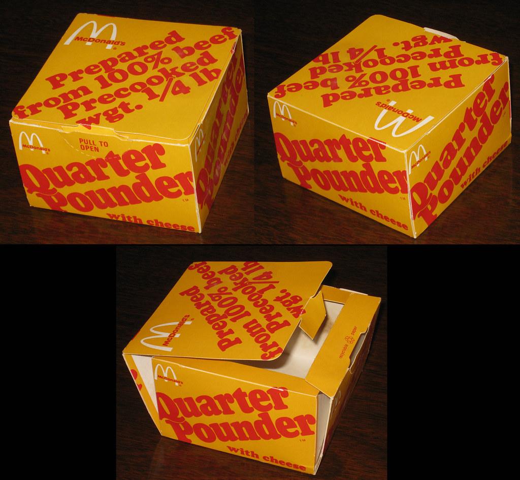 Old Mcdonald S Logo: McDonald's 1974 Quarter Pounder With Cheese Folded-up Shot