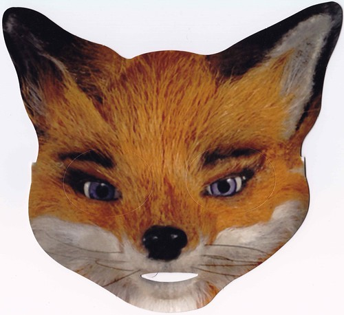 Mrs fox mask front happy meal items that were released for Fantastic mr fox mask template