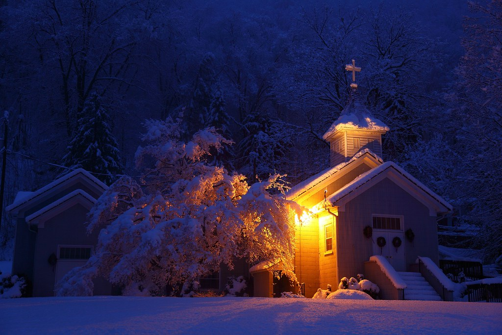 West Virginia Country Church Morning Snow Storm   If you ...