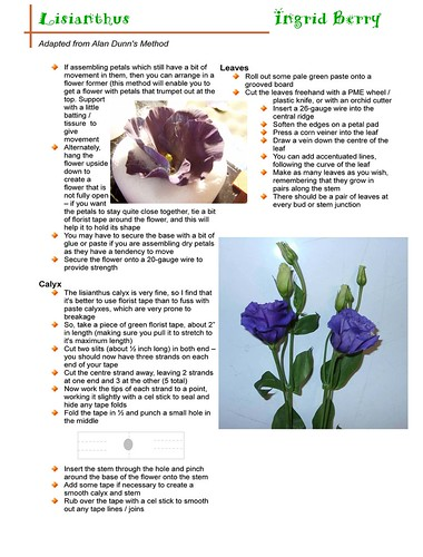 Lisianthus  Notes Pg 3 of 3 | by ingzthingz2010