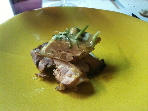 Yam'Tcha: Touraine chicken, roasted and steamed, with Korean pine mushrooms | by clotilde