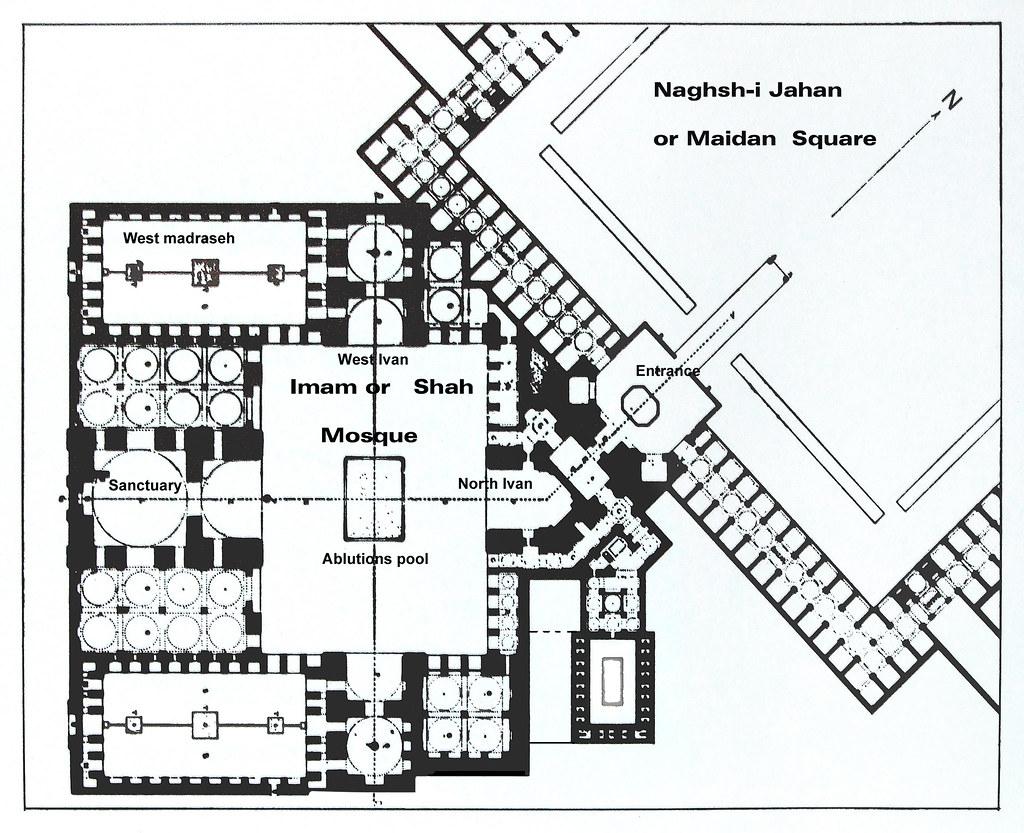 Dscf0319 Imam Shah Mosque Plan Isfahan Imam Or Shah