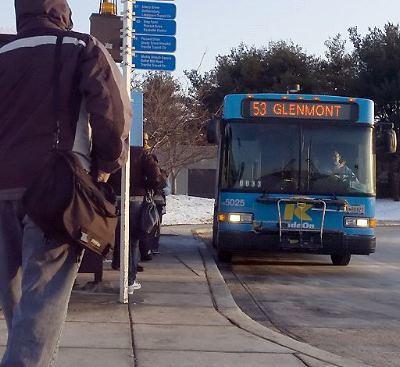 RideOn bus 53, Glenmont, Montgomery County, Maryland