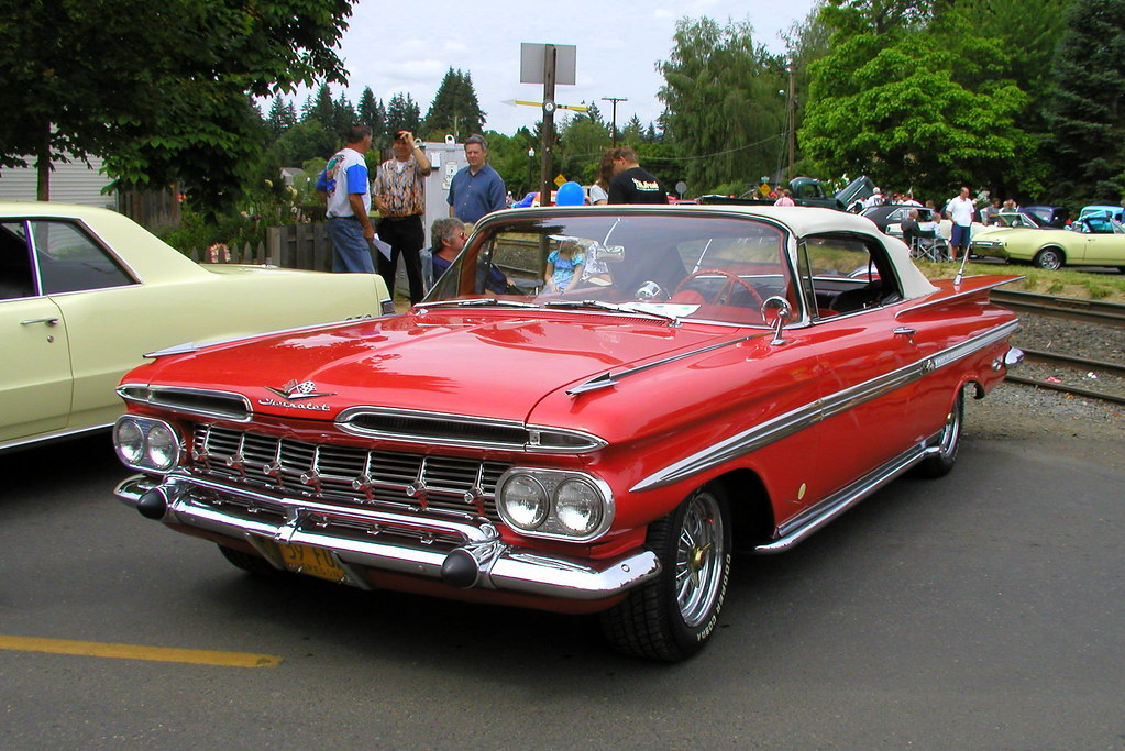 Red 1959 Chevrolet Impala Convertible Cc Photo Is In