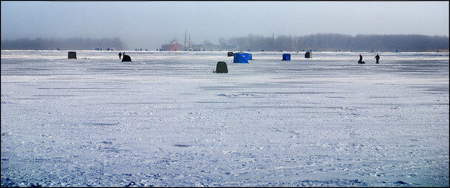 Ice fishing presque isle erie pa jeff fobes flickr for Pa ice fishing
