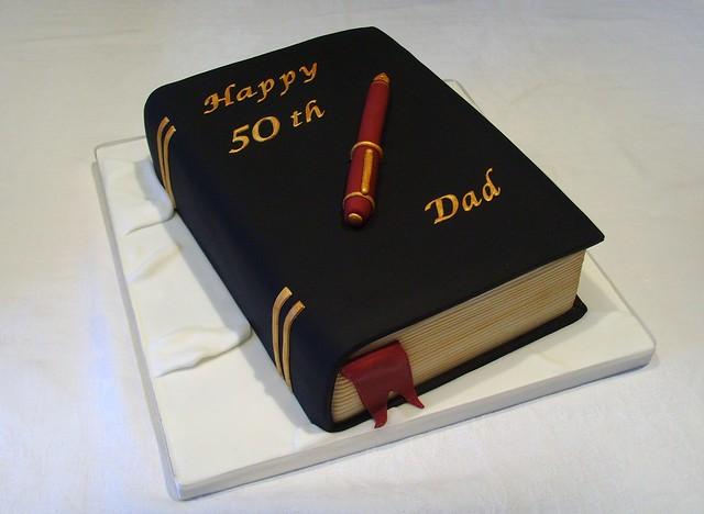 50th Birthday Book Cake Flickr Photo Sharing