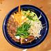 Morgan Gill's  bibimbap (mixed rice with vegetables, meat, and hot sauce)
