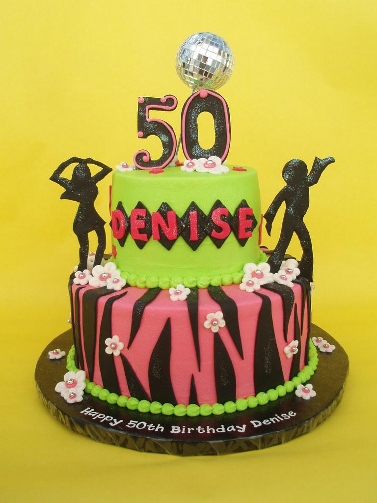 50th Disco Themed Birthday Cake A 50th Birthday Celebratio Flickr