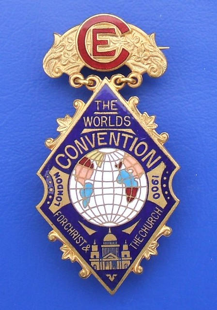 Christian Endeavour World Convention Delegate S Badge Lon