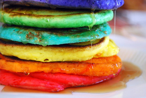 Stack of Rainbow Pancakes | by Sweetnicks