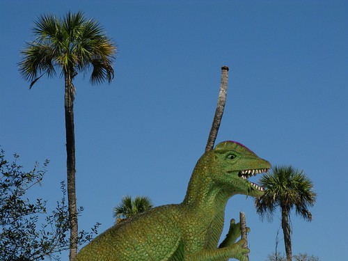Dinosaur Eating Trees Dinosaur Eating Tops of Palm
