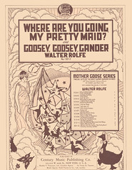 Where are you going, and goosey goosey gander unknown illustrator