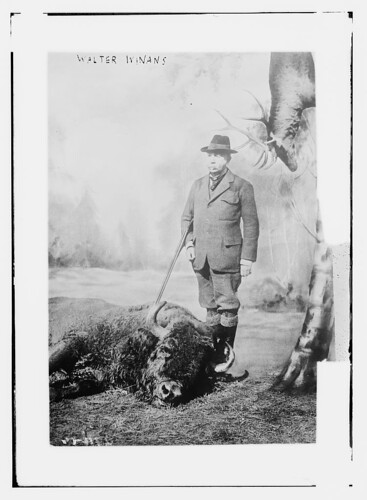 Walter Winans with gun and dead buffalo  (LOC) | by The Library of Congress