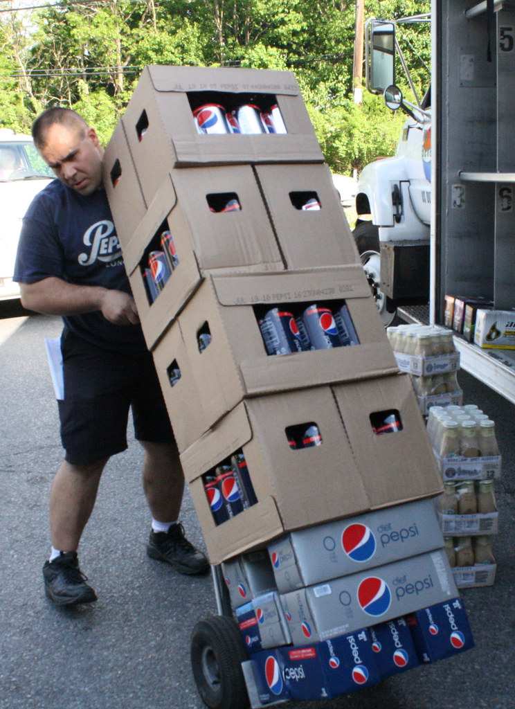 Pepsi Delivery Truck Worker | Greg Bartnicki, 36, is a Pepsi… | Flickr