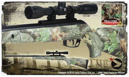 Camo Rocket 177 Caliber Air Rifle 4x32 Air Rifle Scope
