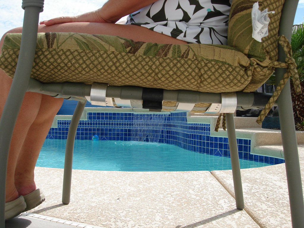 Patio Chair Repair Kit Under view to patio chair after ins…