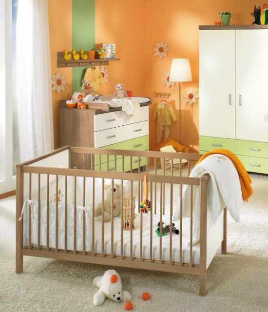 White and wood baby nursery furniture sets by paidi 26 554 flickr - Best baby cribs for small spaces set ...