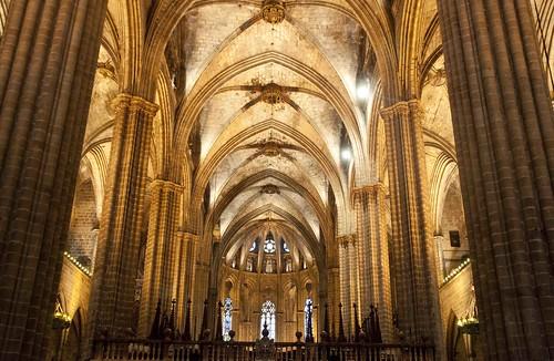 Interior de la catedral de barcelona salvador heredia for Catedral de barcelona interior