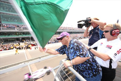 Jack waves the flag | by IndyCar Series