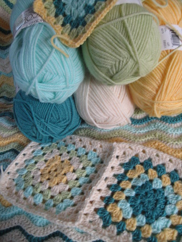 Baby granny square afghan -wip | by Colorbook