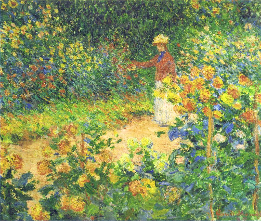 W 1420 claude monet le jardin de monet giverny 1895 for Jardins de monet a giverny