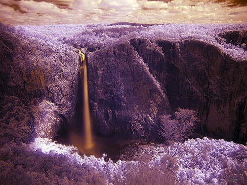 wallaman falls IR | by paul bica