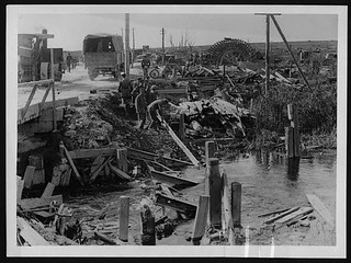 Repairing bridges on the Somme after the advance | by National Library of Scotland