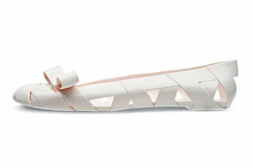 White Ballet Flat Wedding Shoes