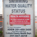 Swimming Water Quality Status: HEALTH ADVISORY